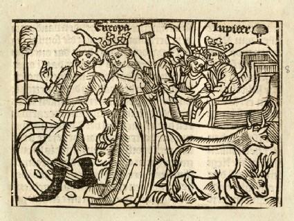 Recto: The Abduction of Europa<br />Verso: letterpress