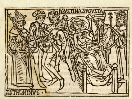 Recto: Faustina Augusta and Emperor Antoninus Pius<br />Verso: letterpress