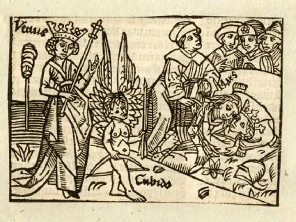 Recto: Venus and Cupid<br />Verso: letterpress