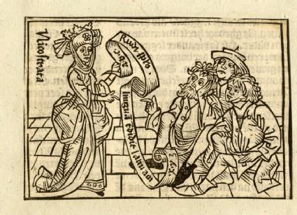 Recto: Nicostrata, or Carmenta, daughter of King Ionius<br />Verso: letterpress