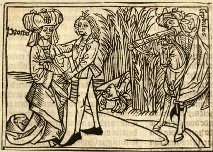 Recto: Procris, wife of Cephalus<br />Verso: letterpress