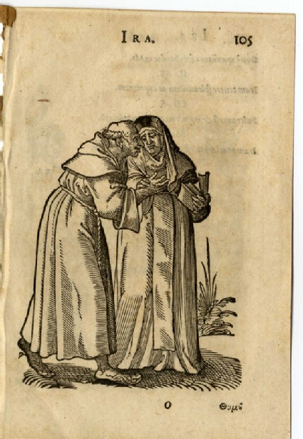 Recto: A Monk caressing a Nun