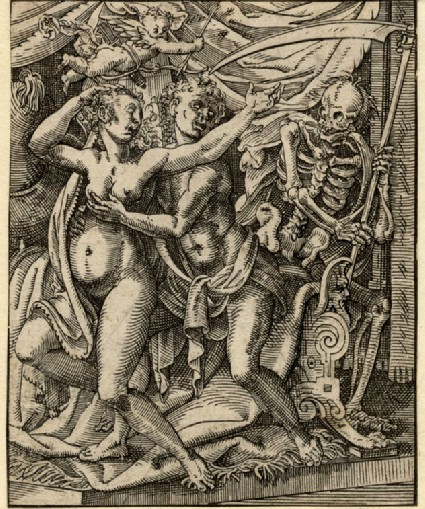 Death surprising a pair of lovers