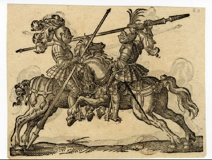 Recto: A Joust<br />Verso: A Joust with Lances Posed on the Combatant's Necks