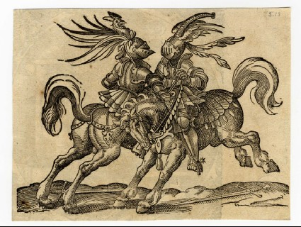 Recto: Jousters in Hand-to-Hand Combat<br />Verso: The Judgment of Cambyses