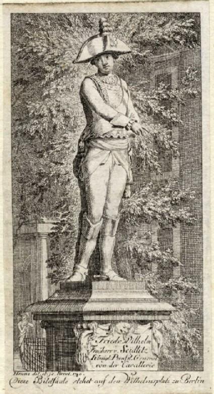 The statue of Friedrich Wilhelm von Seydlitz