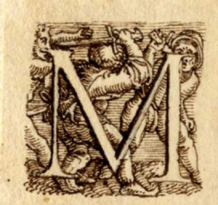 Initial alphabet letter M