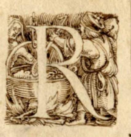 Initial alphabet letter R