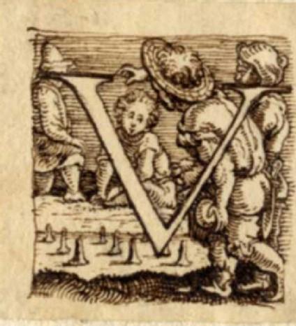 Initial alphabet letter V