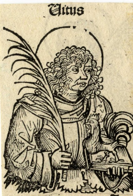 Recto: Saint Titus<br />Verso: Saint Felix, probably