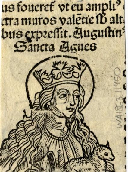 Recto: Saint Agnes<br />Verso: Saint Christopher