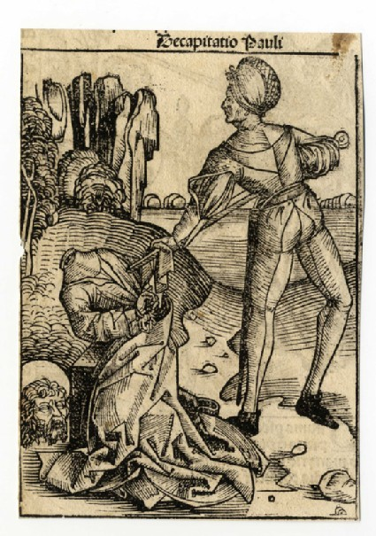 Recto: The beheading of Saint James the Greater<br />Verso: The beheading of Saint Paul