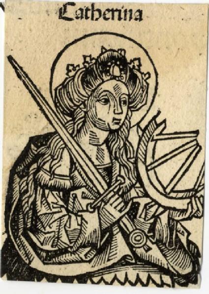 Recto: Saint Catherine of Alexandria<br />Verso: Saint Silvester