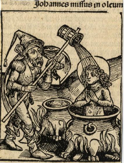 Saint John boiled into oil