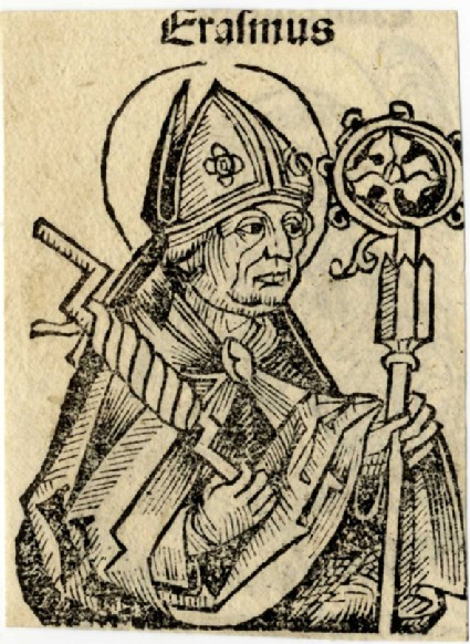 Recto: Saint Vincent<br />Verso: Saint Erasmus