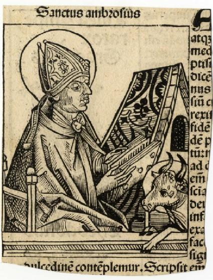Recto: Saint Ambrosius<br />Verso: Theodosius I
