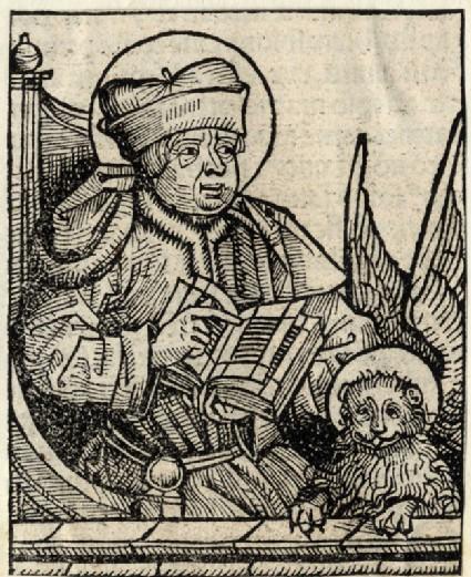 Saint Mark Evangelist with the lion