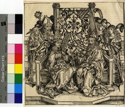 Pope Pius Aeneas and Emperor Friedrich III