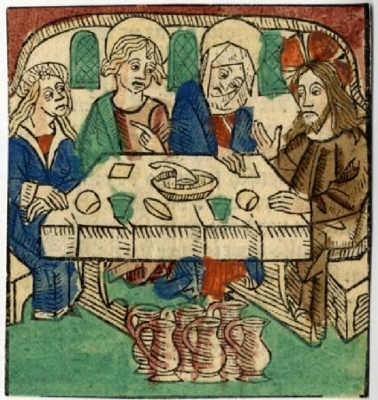 Recto: Marriage at Cana<br />Verso: Letterpress