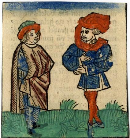 Recto: Two men<br />Verso: Letterpress