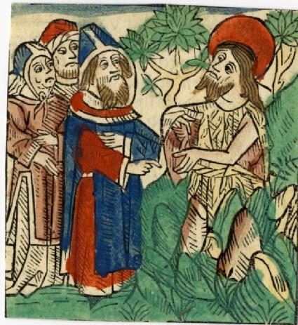 Recto: Capture of Saint John the Baptist, possibly<br />Verso: Letterpress