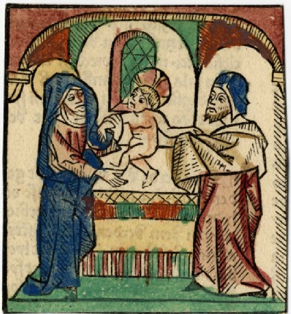 Recto: Presentation at the Temple<br />Verso: Letterpress