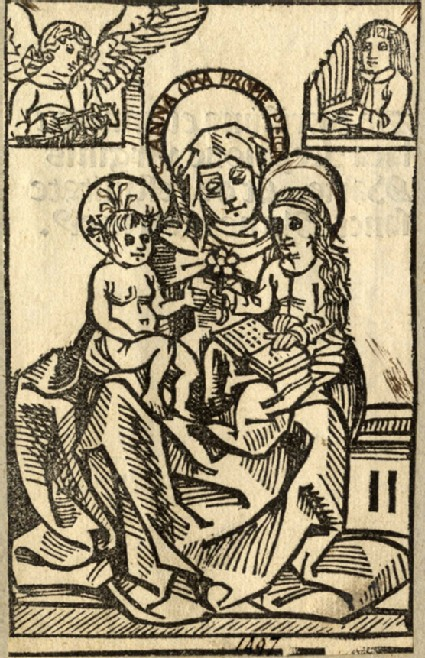 Saint Anne with Mary and Jesus sitting on her lap