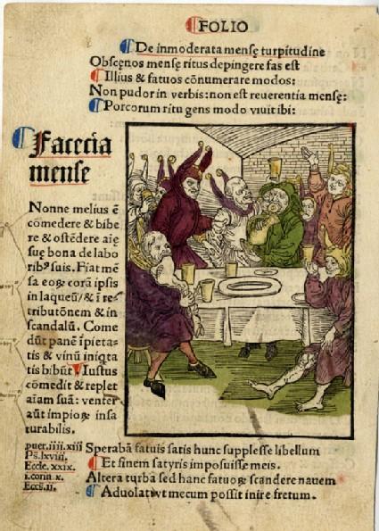 Recto: Fools' banquet<br />Verso: Letterpress