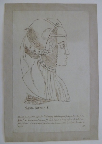 Portrait of a Lady in profile, copied from a Print supposedly by Maria de' Medici