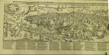 The Battle at Mühlberg between Emperor Charles V and the Duke of Saxony