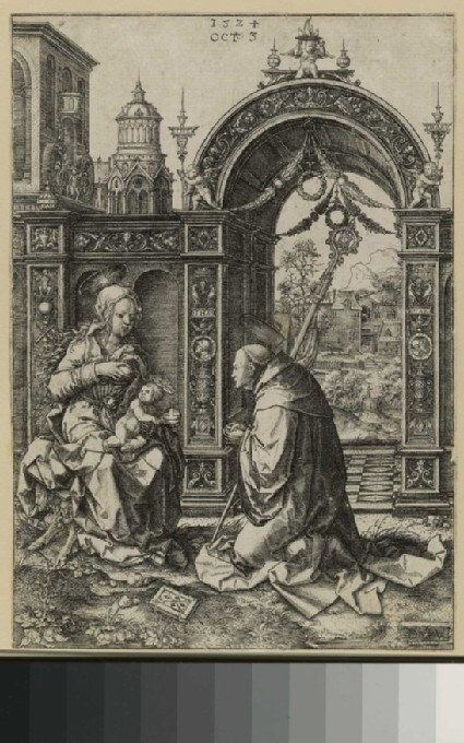 The vision of St Bernard