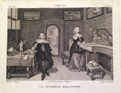 Plate 525: Un Interieur Hollandois, from Vol 8 of the 'Galerie du Musée Napoléon'
