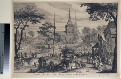 View of a Village with a Peasants' Feast