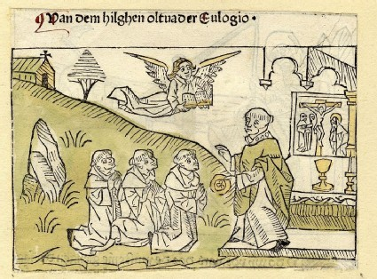Three monks and a bishop