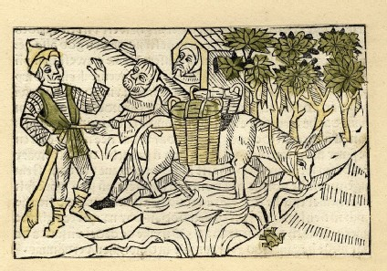 A young man, a hermit, and a donkey