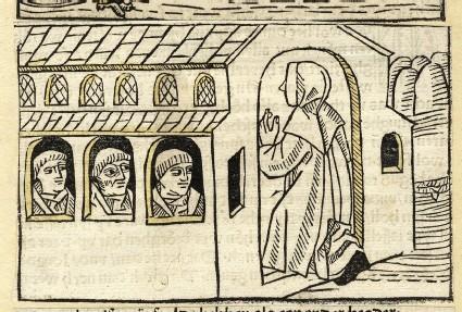 A clergyman walks into a monastery