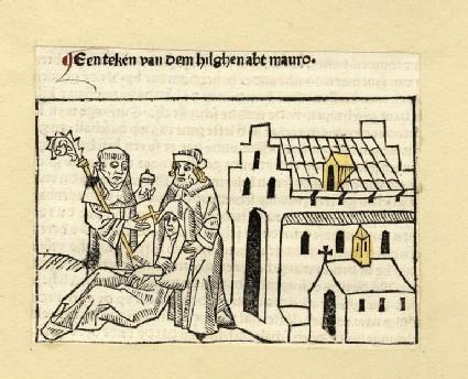 A monk heals a woman