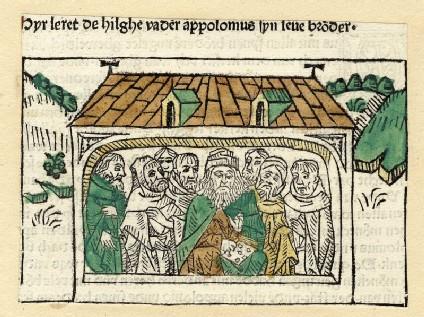 Clergymen in a church