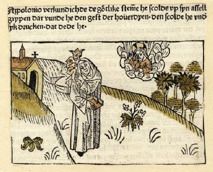 A clergyman, demon and god