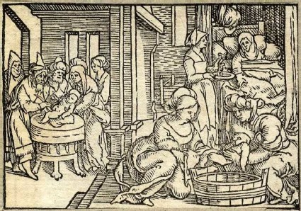 The Birth of St John the Baptist and The circumcision of St John the Baptist