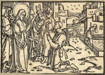 Jesus heals a man blind from birth