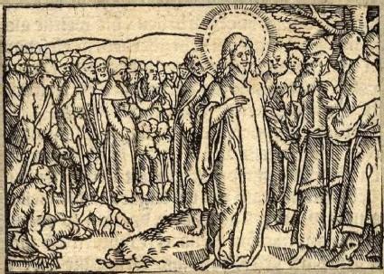 Jesus preaching about divorce
