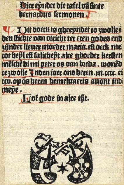 Printer's device of Peter van Os