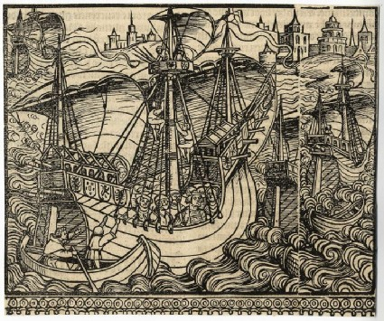 Ferdinand II and Isabella I travel to Spain by boat