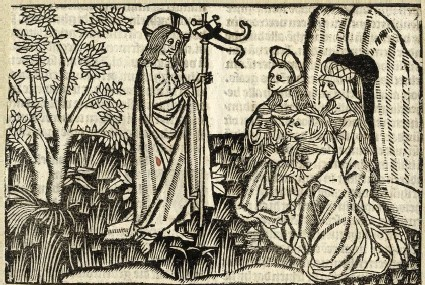 Christ appearing to the Myrrhbearers or the three Mary's