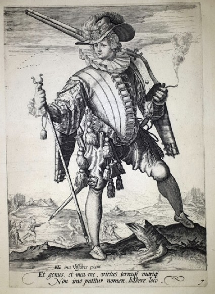 Soldier with arquebus