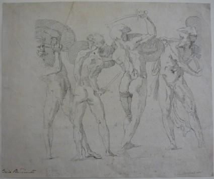 Study of four gladiators