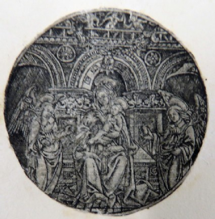 The Virgin and the Child on a throne
