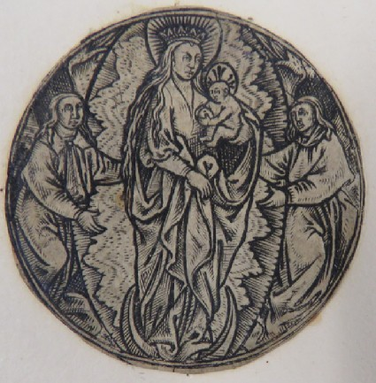 The Virgin on a crescent in Glory