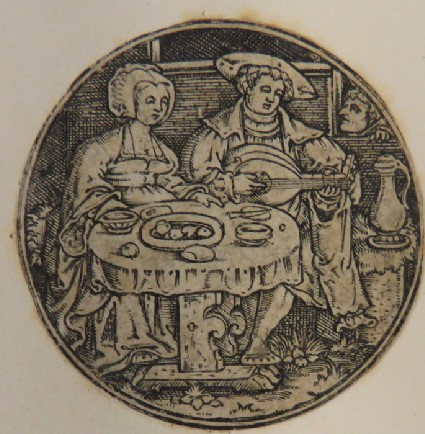 A couple at the table